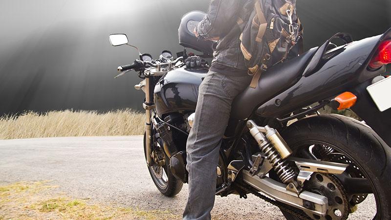 motorbike rides on the street