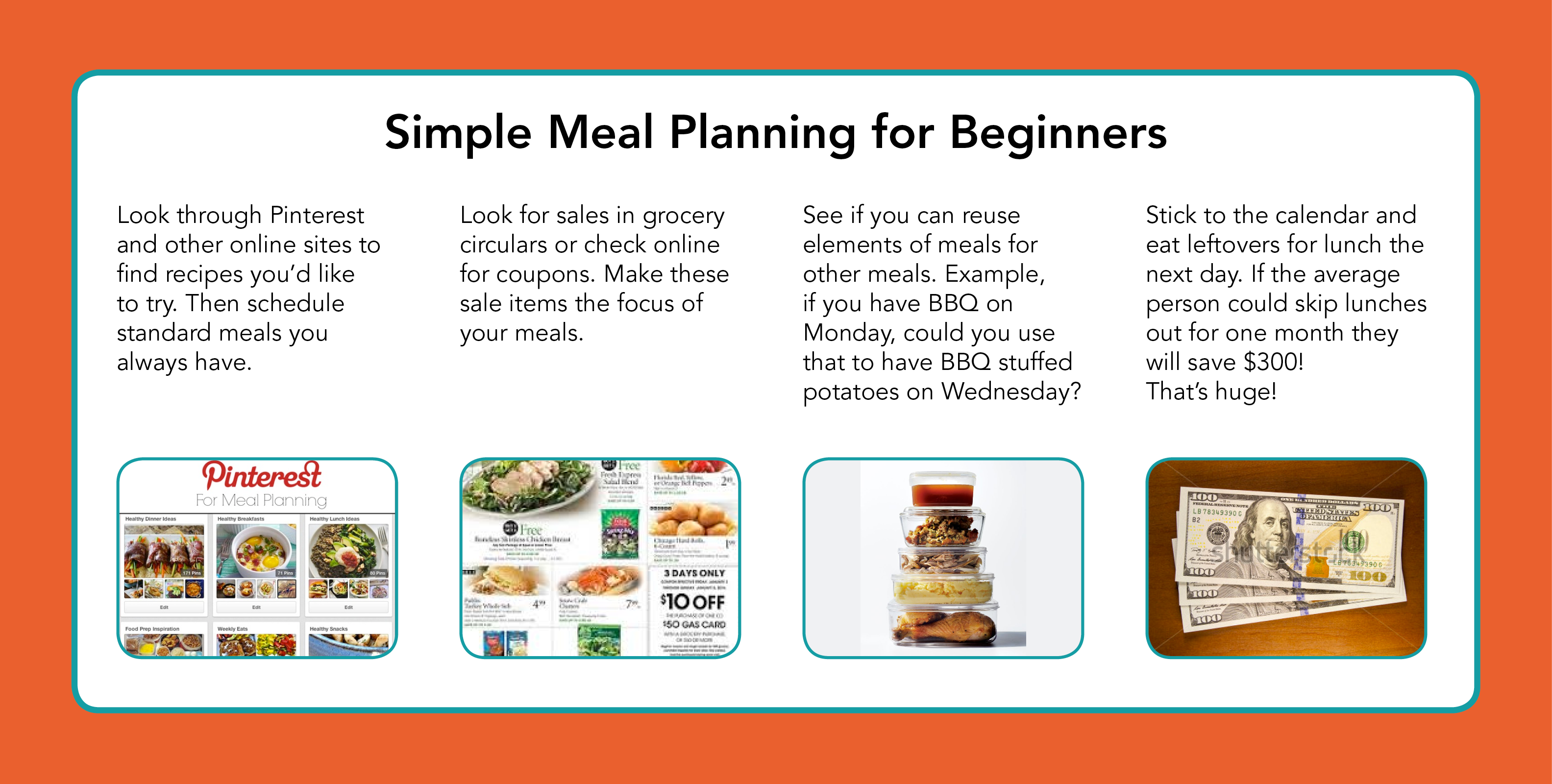 meal planning chart graphic tva community credit union